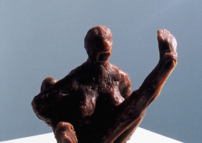 "<i>The Yogi Scream</i>, wax, 8"" x 4"" x 5"", 2005"