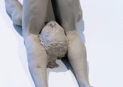 """<i>Halasana, Plough variation</i>, clay, 8"""" x 5"""" x 4"""", 2005"""