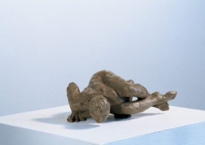 """<i>Kakasana, Crow Variation 1</i>, clay, 5"""" x 8"""" x 3"""", 2005"""