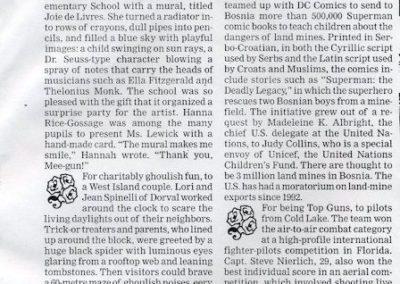 The Montreal Gazette, Bouquets and Brick bats, November 1996