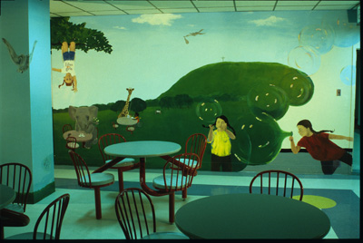 Mural: <i>Outside in to take those inside, out</i><p> Montreal Children's Hospital, Montreal, Quebec, 1997