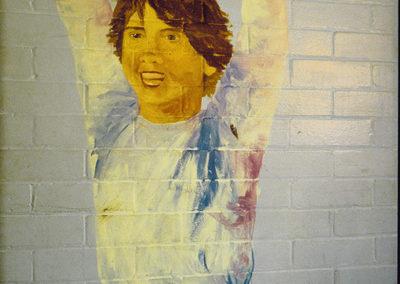 DETAIL:  <i>Joies de livres</i>, 1996, mural, acrylic on wall, <p>20' x 12' x 3