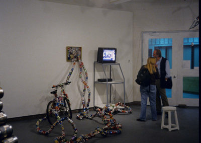 <i>Transforming Matters</i>, Sculptural Installation and video, found objects, cans; Solo show, The Little Gallery, Faculty of Fine Arts, University of Calgary, Alberta, Canada, 2002