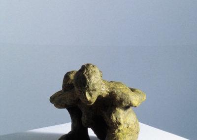 "<i>Murrayasana</i>, bronze, 8"" x 5"" x 4"", 2005"