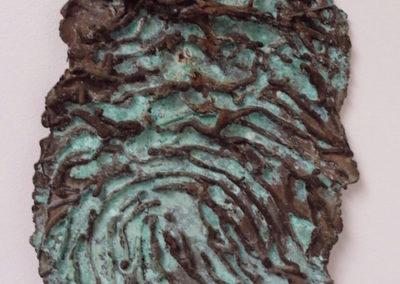 "<i> One of Many</i>, 2001, bronze, 8"" x 12"""