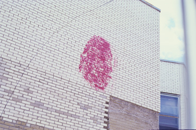 <i>Untitled</i>, 1999, paint, 4' x 6', Montreal, Quebec