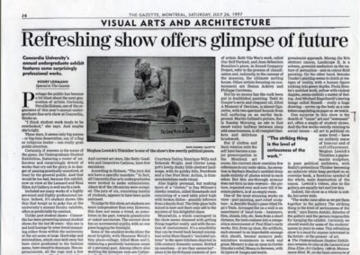 The Gazette, Montreal, July 26, 1997, article by Henry Lehmann