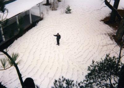 <i> Snow print</i> or <i>Thumb's Up, Charlie</i>, 1999, Snow, Vermont, 100' x 60'