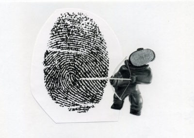 "<i>Self Analysis</i>, 1999, photocopy and collage, 8 1/2"" x 11"""