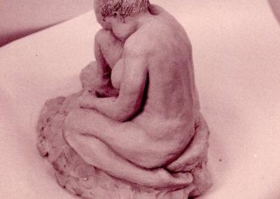 """<i>The Thinkher</i>, 1997 , clay, 12"""" x 8"""" x 10"""""""