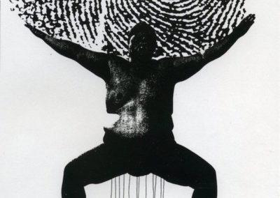 "<i>Self-confidence</i>, 1999, photocopied collage, 8 1/2"" x 11"""