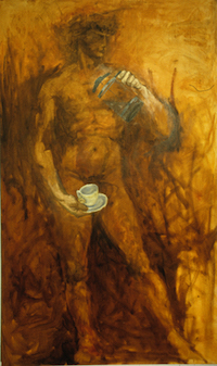 <i>Sir-vice</i>, 1999, oil on canvas, 4' x 6'