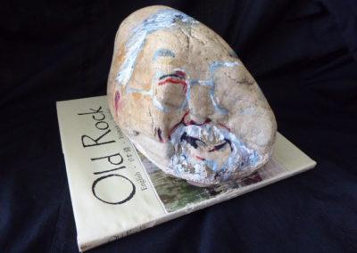 <i>David Suzuki You Rock<i/>, 2013, Found objects and paint,